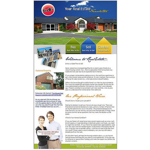 Real Estate Newsletter Design