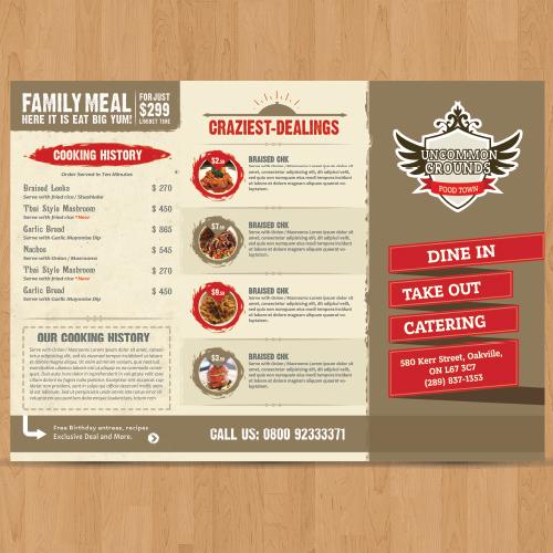 Family Restaurant Menu Design