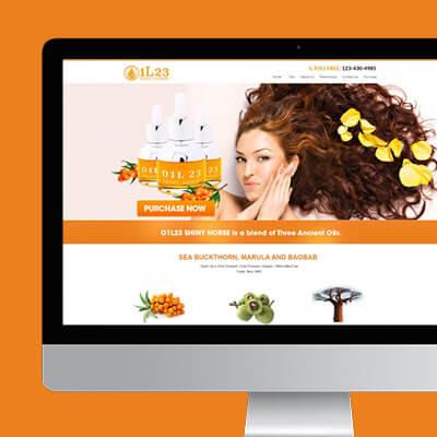 Cosmetics Beauty Website Design