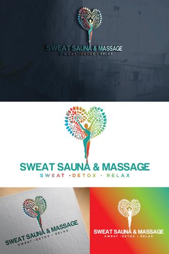 Online Massage Logo Design