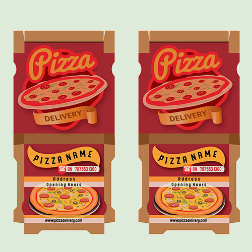 Pizzabox Packaging Design  for Kvgastro