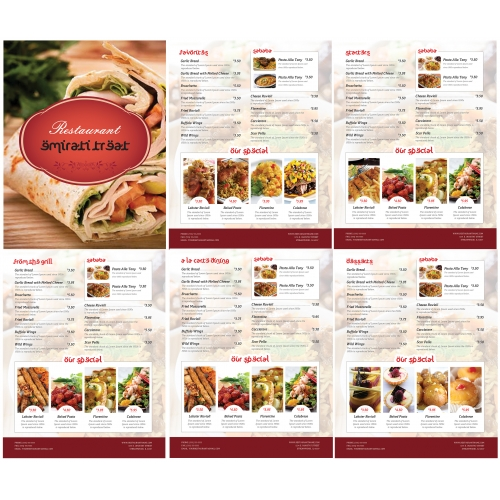 Menu Design for Mustapha