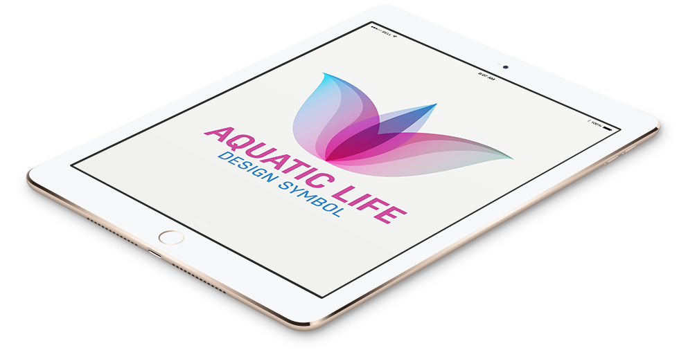 Aquatic Life Abstract Logo In Tablet Format