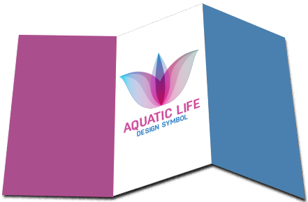 Aquatic Life Abstract Logo in Broucher Format