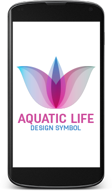 Aquatic Life Abstract Logo in Mobile Format