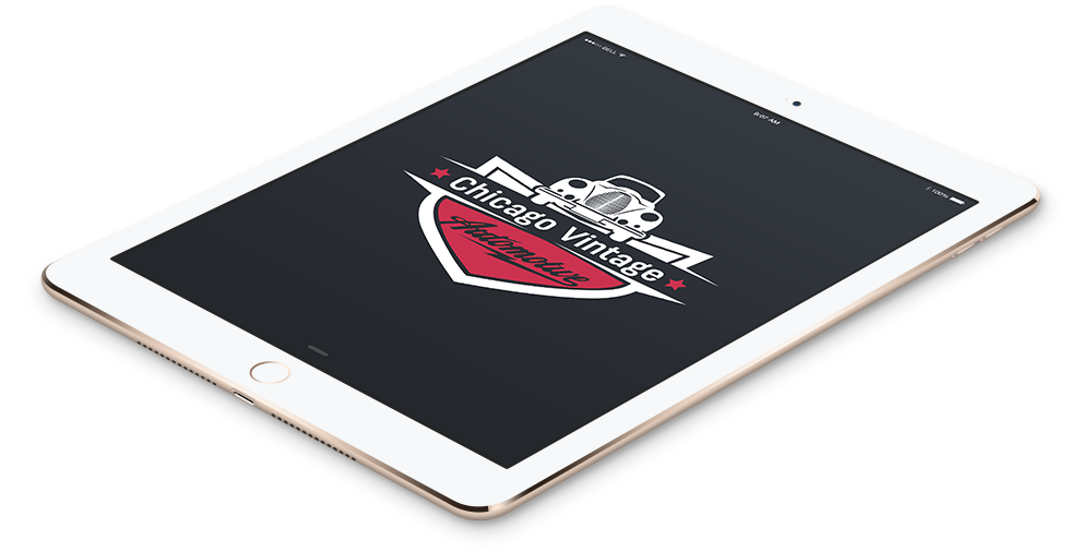 Chicago Motorcycle Team Custom Logo Design In Tablet Format.