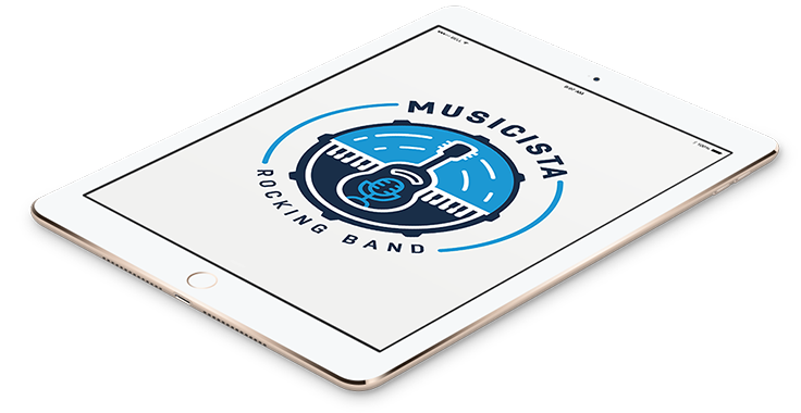 Musicista Band Logo In Tablet Format