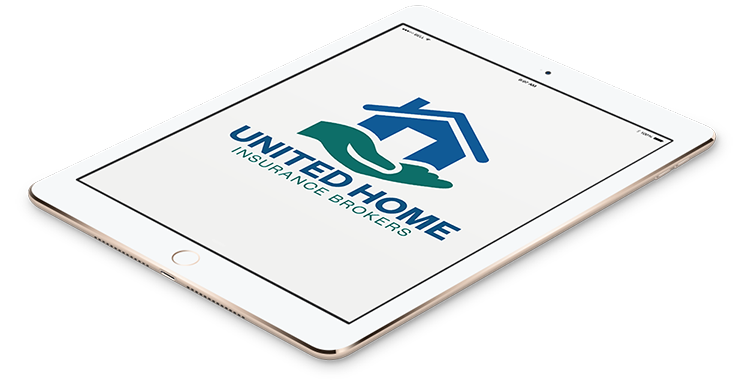 United Home Insurance Logo In Tablet Format