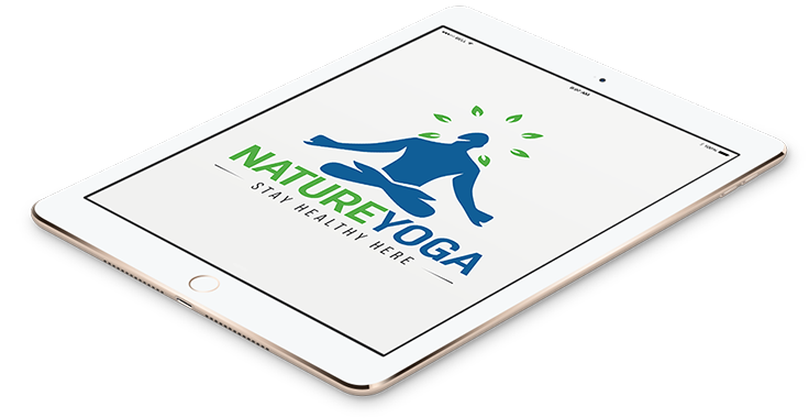 NatureYoga Yoga Logo In Tablet Format