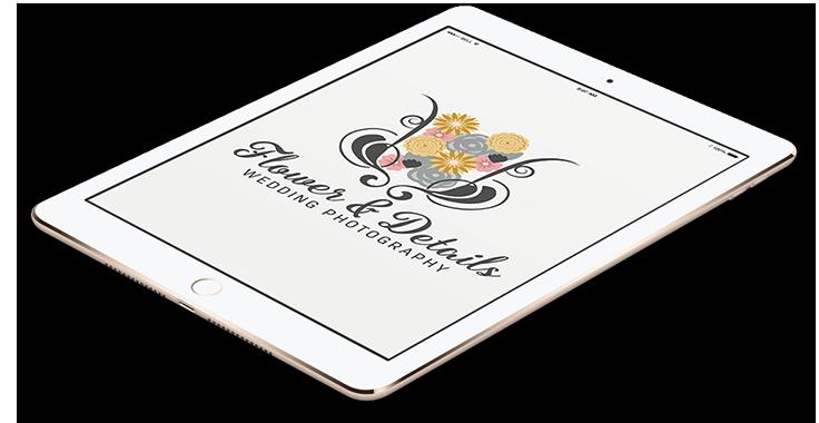 Flower & Details Art Logo In Tablet Format