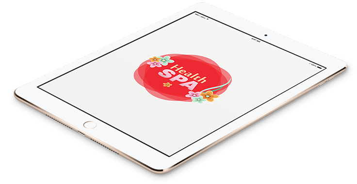 Cosmetics and Beauty Logo in tablet Format