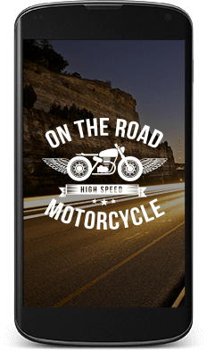 Austin Motorcycle Team Custom Logo Design in Mobile Format