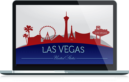 Las Vegas Motorcycle Team Custom Logo Design in Laptop Format