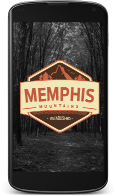 Memphis Motorcycle Team Creative Logo Design in Mobile Format