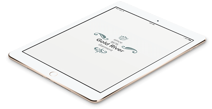 Gold River Fashion Logo Design In Tablet Format