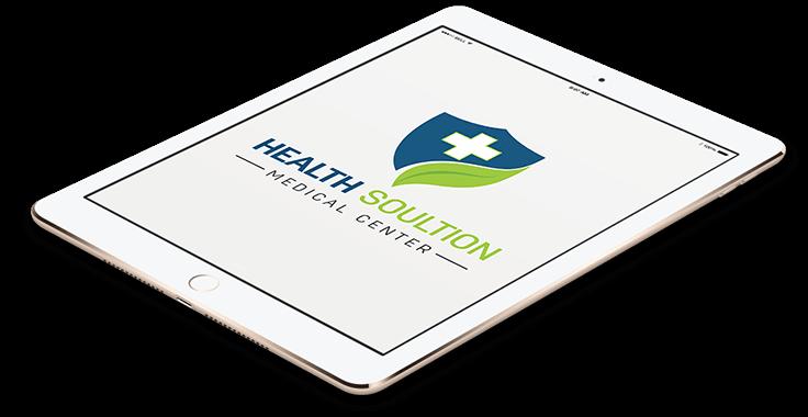 Health Solution Medical Logo In Tablet Format