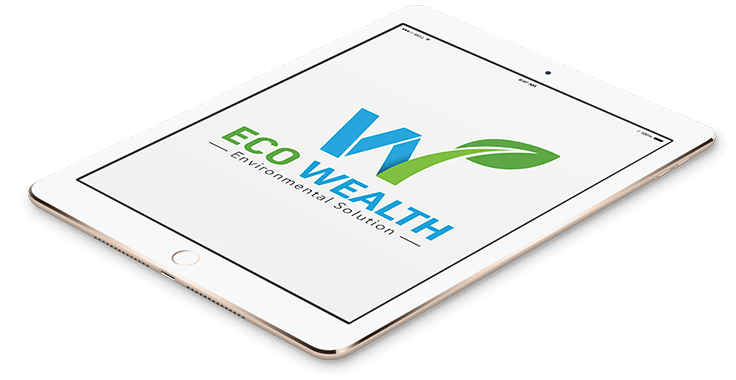 Eco Wealth Business Logo In Tablet Format