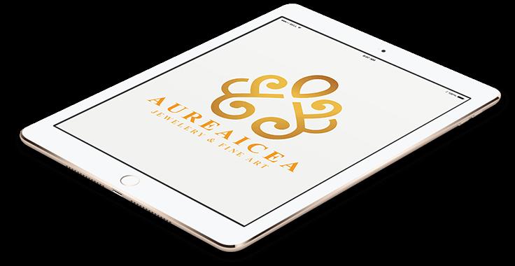 Aureaicea Jewellery Logo In Tablet Format