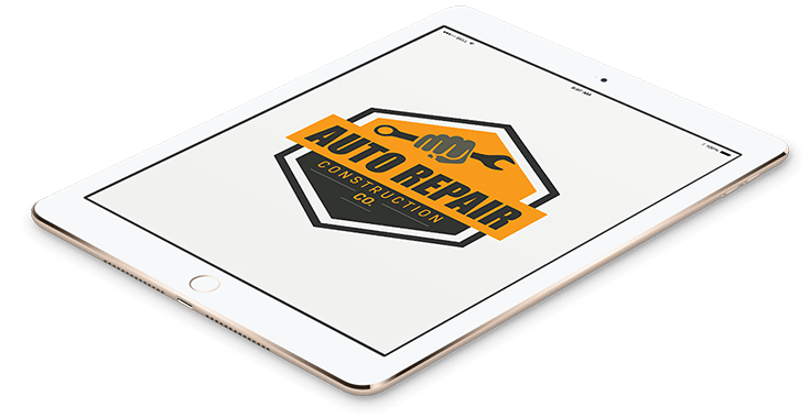 Autorepair Construction Logo In Tablet Format