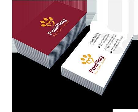 Pet Care online business card creator